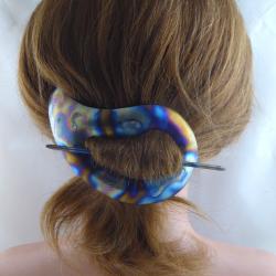 Kleine Titan Stab Haarspange Paisley Handarbeit in Berlin produziert