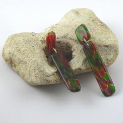 Acetat Ohrhänger Handarbeit in Berlin produziert