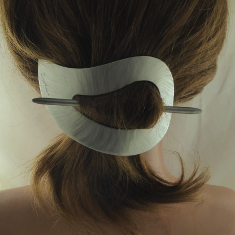 Paisley Stab Haarspange klein Bambus