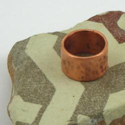 Kupfer Fingerring Handarbeit in Berlin produziert