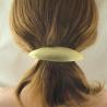 Ovale Messing-Haarspange mittel gebürstet Handarbeit in Berlin produziert