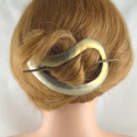 Grosse Titan Stab Haarspange Handarbeit in Berlin produziert