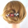 Strass Haarspange groß Handarbeit in Berlin produziert