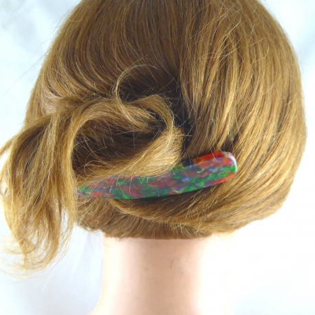Acetat Haarspange groß Handarbeit in Berlin produziert