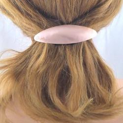 Ovale Kupfer Haarspange klein Handarbeit in Berlin produziert