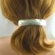 Neusilber Haarspange gross Effektschliff