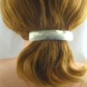 Neusilber Haarspange gross Effektschliff Handarbeit in Berlin produziert