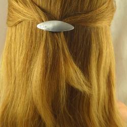 Sehr kleine Aluminium Haarspange Handarbeit in Berlin produziert