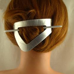 Dreieck Stab Haarspange gross Bambus Handarbeit in Berlin produziert