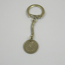 50 Pfennig Schlüsselanhänger Handarbeit in Berlin produziert