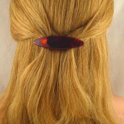 Sehr kleine ovale Acetat Haarspange Handarbeit in Berlin produziert
