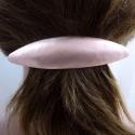 Ovale Kupfer Haarspange gebürstet Handarbeit in Berlin produziert