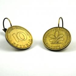 10 Pfennig Ohrhänger flach