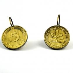 5 Pfennig Ohrhänger flach