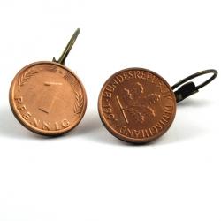 1 Pfennig Ohrhänger flach