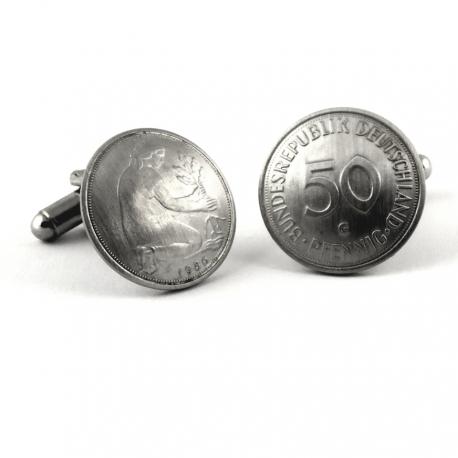 Manschettenknöpfe aus 50 Pfennig Münzen