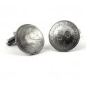 Manschettenknöpfe aus 50 Pfennig Münzen Handarbeit in Berlin produziert